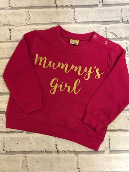 Mummy's Girl sweatshirt. Mommy's Girl Sweater, Mammy's girl Jumper.